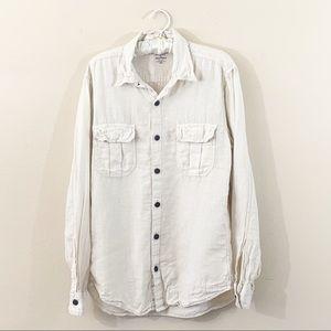 Lucky Brand Baird McNutt 100% Irish Linen Shirt
